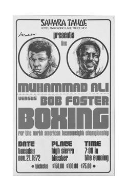 Poster Advertising the North American Heavyweight Title Fight Between Muhammad Ali and Bob Foster