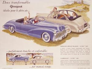Poster Advertising the Peugeot 203, 1952