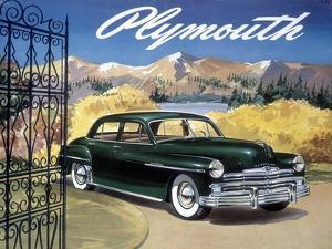 Poster Advertising the Plymouth Special De Luxe Sedan, 1949