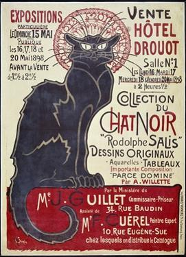 Poster Advertising the Sale of the Chat Noir (Black Cat) 1898
