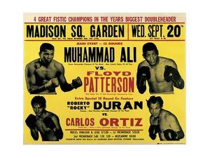 Poster Advertising the Second Fight Between Muhammad Ali and Floyd Patterson