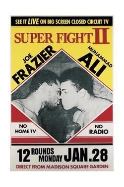 Poster Advertising the Second 'Super Fight' Between Muhammad Ali and Joe Frazier