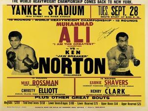 Poster Advertising the Third and Final Fight Between Muhammad Ali and Ken Norton