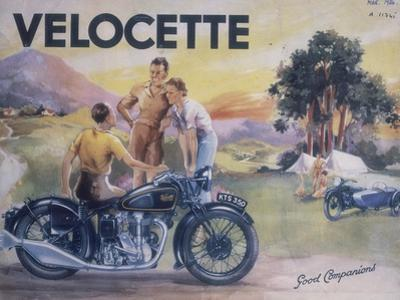 Poster Advertising Velocette Motor Bikes, 1936
