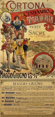 Poster Commemorating the 600th Anniversary of Death of Saint Margaret, 1897