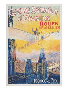 Poster for French Airshow, Rouen 1910