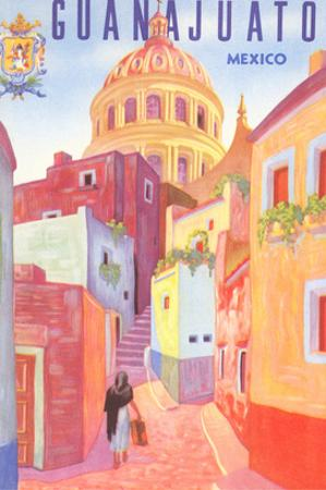 Poster for Guanajuato, Mexico, Colonial Streets