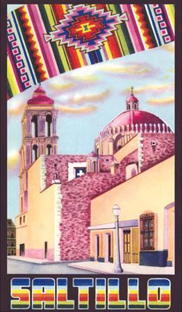 Poster for Saltillo, Mexico, Old Church