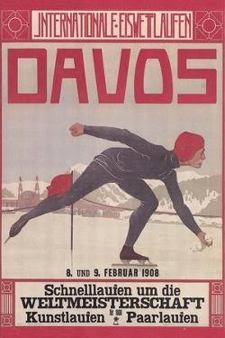 Poster for Speed Skating in Davos