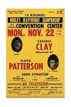 Poster for the First Fight Between Muhammad Ali and Floyd Patterson in Las Vegas