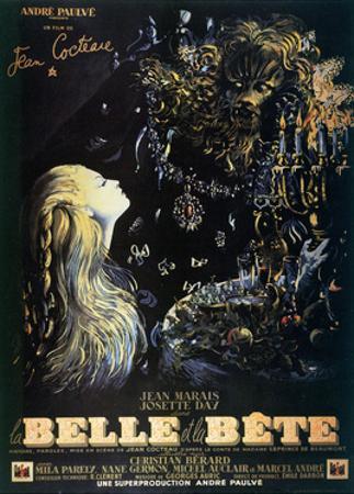Poster for the Jean Cocteau Film 'La Belle Et La Bete', 1946