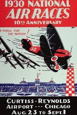 Poster for the National Air Races at the Curtiss-Reynolds Airport, Chicago, 1930