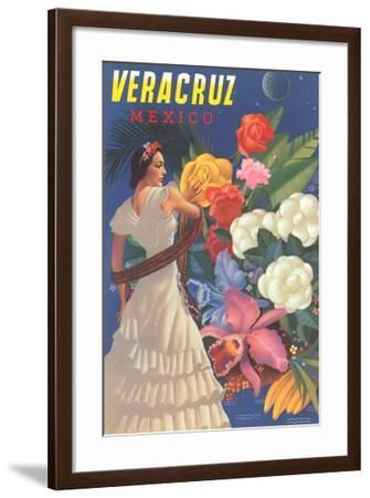 Poster for Veracruz, Mexico, Senorita with Flowers