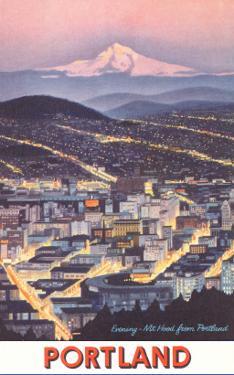 Poster of Mt. Hood over Portland, Oregon