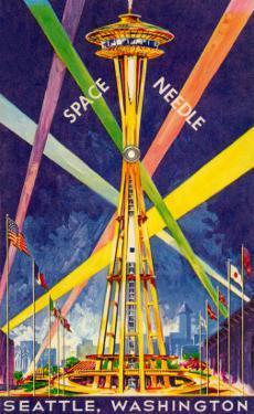 Poster, Space Needle, Seattle, Washington