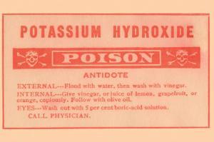 Potassium Hydroxide - Poison