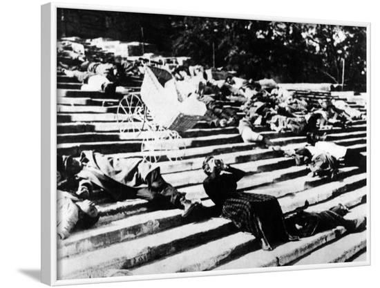 "Potemkin, 1925, ""Bronenosets Potyomkin"" Directed by Sergei M. Eisenstein, Grigori Alexandrov--Framed Photographic Print"