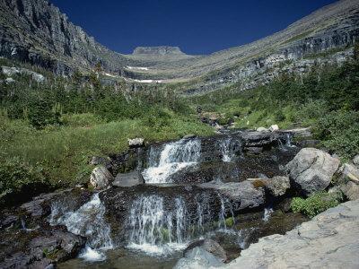 Mountain Stream Beside Going to the Sun Road, Near Logan Pass, Glacier National Park, Montana, USA