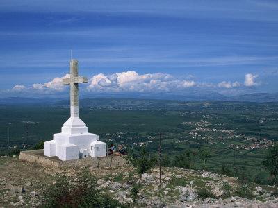 Summit of the Hill of the Cross, Krizevac, Medjugorje, Bosnia Herzegovina, Europe