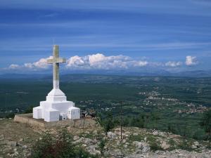 Summit of the Hill of the Cross, Krizevac, Medjugorje, Bosnia Herzegovina, Europe by Pottage Julian