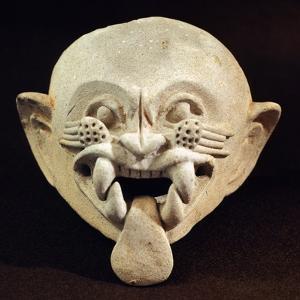 Pottery Feline Mask, Artifact Originating from La Tolita