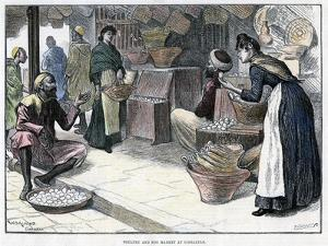 Poultry and Egg Market in Gibraltar, C1880 by P Naumann