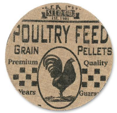 Poultry Feed Advertising Plate