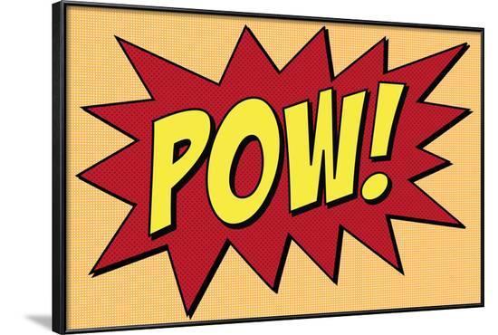Pow Comic Pop-Art--Framed Art Print