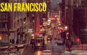 Powell Street at Night, San Francisco, California