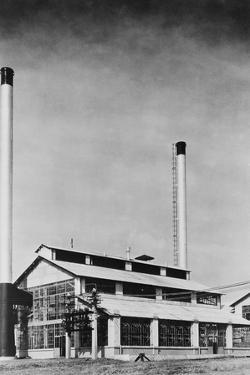 Power Plant with Two Smokestacks