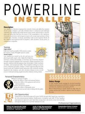 Powerline Installer - Educational Poster