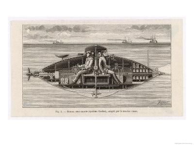 Designed by Claude Goubet in 1885: The First Electrically Powered Submarine