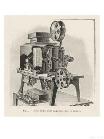 Gaumont Projector Adaptable to Both Still and Moving Pictures