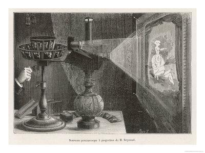 Reynaud's Praxinoscope Adapted for Projection onto a Screen