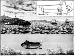 The Submarine Nautilus, 1901 by Poyet