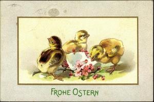Präge Glückwunsch Ostern, Küken Beim Schlüpfen