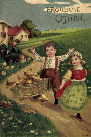 https://imgc.allpostersimages.com/img/posters/praege-litho-glueckwunsch-ostern-kinder-mit-kueken-land_u-L-PONX930.jpg?p=0