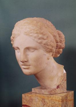 The Kauffmann Head, Head of Aphrodite, Copy of the Aphrodite of Cnidus by Praxiteles (Fl.375-40 BC) by Praxiteles