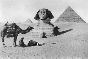 Praying before a Sphinx, Cairo, Egypt, C1920s