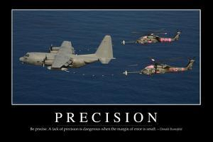 Precision: Inspirational Quote and Motivational Poster