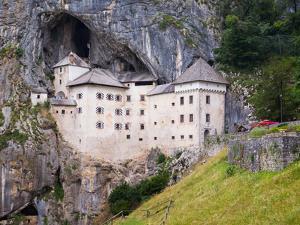 Predjama, Inner Carniola, Slovenia. Predjama Castle, built into the opening of a cave.