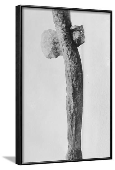 Prehistoric Axe on Display--Framed Photographic Print