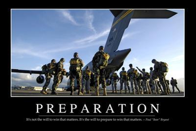Preparation: Inspirational Quote and Motivational Poster