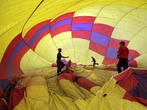 Preparing Hot Air Balloon for Flight During the First Indonesian Hot Air Balloon Adventure, Sentul
