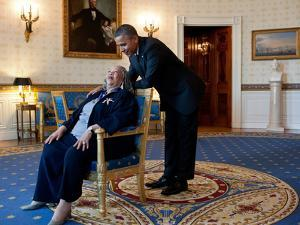 Pres Barack Obama Talks with Presidental Medal of Freedom Recipient Toni Morrison, May 29, 2012