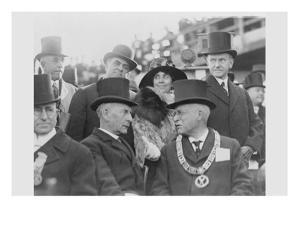 President and Mrs. Coolidge at Laying of Cornerstone of George Washington Masonic National Memorial