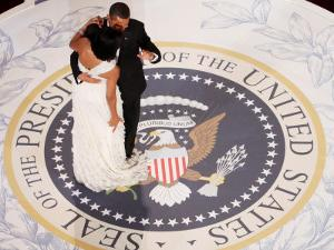 President Barack Obama and First Lady Michelle Dance, Commander in Chief Ball, January 20, 2009