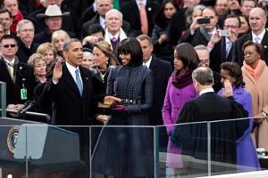 President Barack Obama During the Public Inaugural Swearing-In Ceremony, Jan. 21, 2013