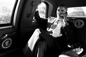 President Barack Obama in a Conference Call with Advisors to Discuss the Aurora, Colorado Shootings