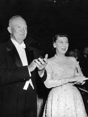 President Eisenhower and First Lady Mamie at an Inaugural Ball